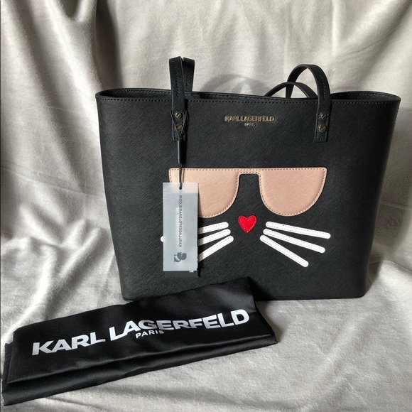 7afcd6b305 Karl Lagerfeld Paris, Chou Pette Cat Face Handbag.  M_5ab6e7fa9d20f042a09ae0c6